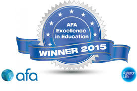 AFA Excellence in education winner - 2015